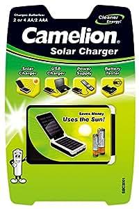 Camelion 20003001 Solar Ladegerät (geeignet für 2 - 4 x NiMH Akkus AA, Mignon, bzw. 2 x AAA, Micro)