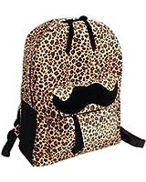 niceeshop(TM) Moustache Daypack Backpack Canvas Bags for Women Men