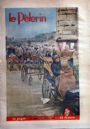 PELERIN (LE) [No 3848] du 12/08/1956 - sport cyclisme contre la montre toujours anquetil athletisme - les fran+ºais ont bien resiste aux polonais football - saint etienne lens et strasbourg ont fait bonne mesure le meilleur et le pirie en deux mots... par Collectif