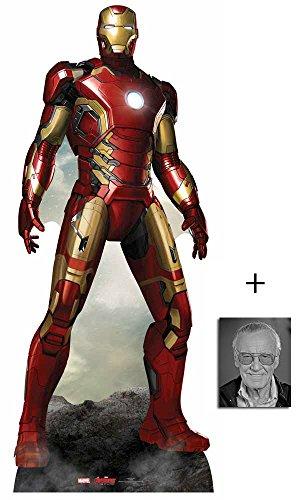 Iron Man (Tony Stark - Robert Downey Jr) Avengers Age of Ultron Marvel Lebensgrosse Pappfiguren / Stehplatzinhaber / Aufsteller - Enthält 8X10 (25X20Cm) ()