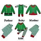 POLP Niño Navidad Bebe Ropa Disfraz Navidad Bebe Navidad Regalo Servicio de impresión a Rayas de Navidad en casaTops y Pantalones Pijama Bebe 2 Piezas Verde para Nino