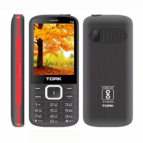 TORK MOBILE T 36 Made In India 2.8 Big Display + 3000 MAh Powerfull Battery +Big Speaker +Big Sound +Mp3 +Mp4 +BT+ Vibration + Auto Call Recording + Wireless FM +Mobile Tracker + GPRS + WAP +Facebook +500 Contacts Phonebook +Big Led Torch +Dual Sim + Digi