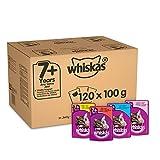 Whiskas 7 + Kattenvoer, Hoogwaardig Nat Voer In Verschillende Smaken (120 x 100 g)