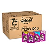 Whiskas 7+ Cat Pouches Mixed Selection in Jelly, 120 x 100 g Mega Pack