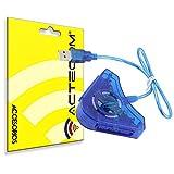 ACTECOM Adaptador Conversor de Mando *AZUL* PS1 PS2 PSX para PC PS3 Conector Doble