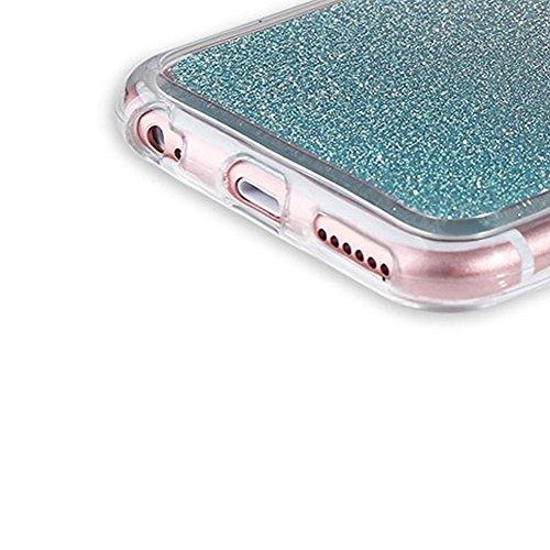 Custodia Per iPhone 6 Plus / 6S Plus,Funyye Glitter Brillare Rosa Graduale Cambiano Colore Stile Cover [Con Pellicola Protettiva] Morbido Sottile Silicone Gomma Gel TPU Protettivo Caso Originale Antis Design #12