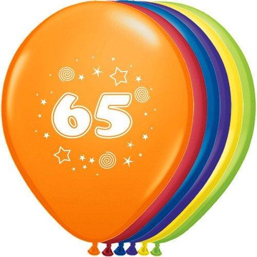 "Preisvergleich Produktbild Luftballons ""Zahl - 65"" Ø 30 cm 10 Stück - partydiscount24®"