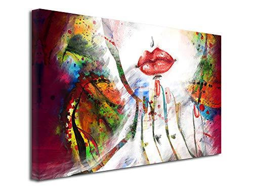 Kollektion Lip Palette (Wandbild, Wandbild, Wandbild, Dekoration, Lips, 50 x 30 cm, Mehrfarbig, Leinen, Mehrfarbig, 100x60 cm)