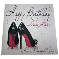 WHITE COTTON CARDS Code XLWB13 Happy Birthday Daughter Have A Wonderful Day Handmade Large Birthday Card 2 Shoes