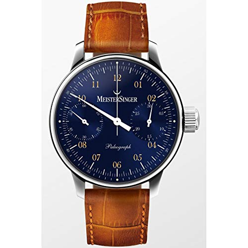 Meistersinger Men's Paleograph 43mm Leather Band Automatic Watch ED-SC108