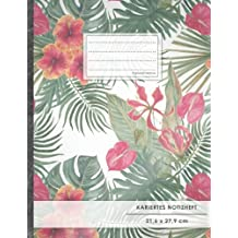 """Kariertes Notizbuch • A4-Format, 100+ Seiten, Soft Cover, Register, Mit Rand, """"Dschungelfieber"""" • Original #GoodMemos Quad Ruled Notebook • Perfekt als Matheheft, Skizzenbuch, Notizheft, Tagebuch"""