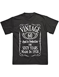 Postees 60th Birthday Vintage Made in 1958 Funny T-Shirt