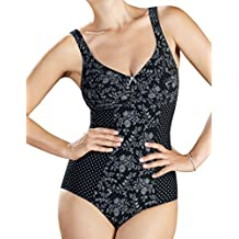 Anita 3508-001 Women's Nice Black and White Comfort Corselet Bodysuit