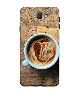 PrintVisa Designer Back Case Cover for Samsung On7 (2016) New Edition For 2017 :: Samsung Galaxy On 5 (2017) (Coffee Mug With Wooden Base)
