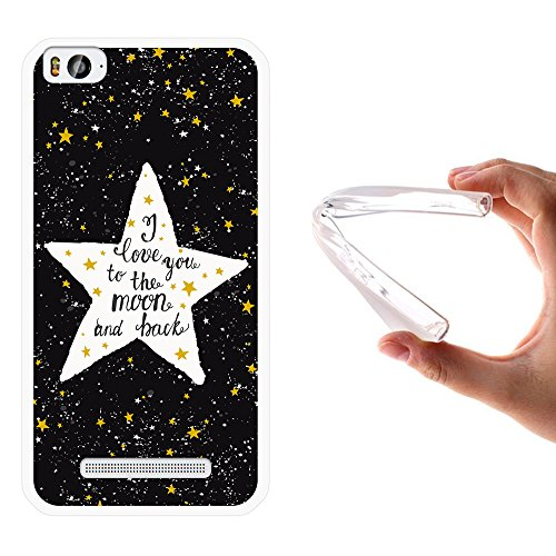 Xiaomi Mi 4c Hülle, WoowCase Handyhülle Silikon für [ Xiaomi Mi 4c ] Star Satz - I Love You To The Moon And Back Handytasche Handy Cover Case Schutzhülle Flexible TPU - Transparent