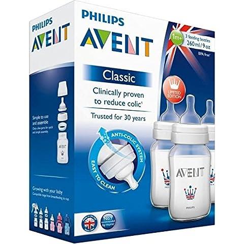 Avent 260ml Botella De Alimentación Clásica (3) (Paquete de 6)