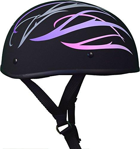 X-Small : Bikerhelmets.com - Pretty in Pink Smallest DOT Beanie FBNP - XS
