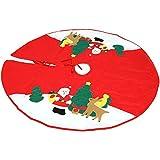 COM-FOUR® Coperchio Decorativo per Albero di Natale, Copertura per Alberi, Tappeto Rotondo per Albero di Natale, Ø 100 cm
