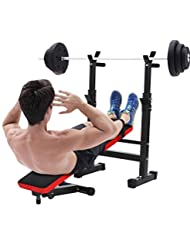 Befied Banc de Musculation Fitness Multifonctionnel Pliable Adjustable Professionnel Plaque