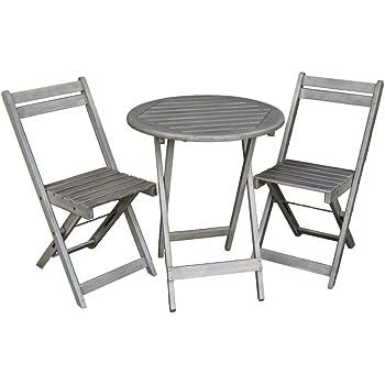 sitzgruppe gartentisch mit 2x klappst hlen balkon klapptisch stuhl tisch. Black Bedroom Furniture Sets. Home Design Ideas