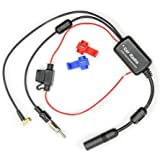 Vecys FM/AM DAB DAB + Auto antenne Signaalversterker Booster SMB Vrouwelijk naar DIN mannelijk Adapter 12V Digitale radio Ant