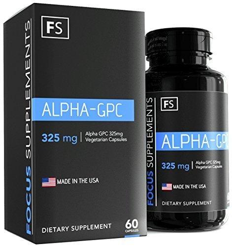 Alpha GPC – 325 mg capsule vegetali – prodotto negli Stati Unti d'America (1 flacone – 60 pastiglie)