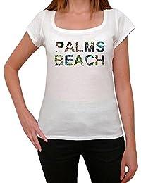 Palms Beach Africa T-shirt Femme,Blanc, t shirt femme,cadeau