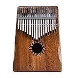 XuBa Kalimba Daumen-Klavier für Kinder und Erwachsene, massives Mahagoni-Körper mit 17 Tasten (Sonnenblume)