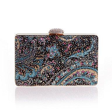 pwne L. In West Woman Fashion Flower Diamanten Abend Tasche Blue