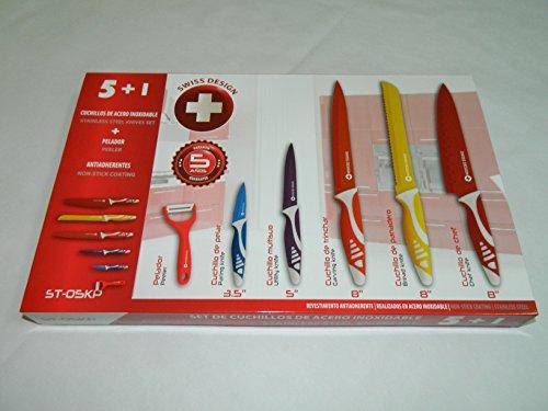 swiss-design-st-05kp-set-juego-de-5-cuchillos-de-acero-inoxidable-y-pelador-revestimiento-ceramico-a
