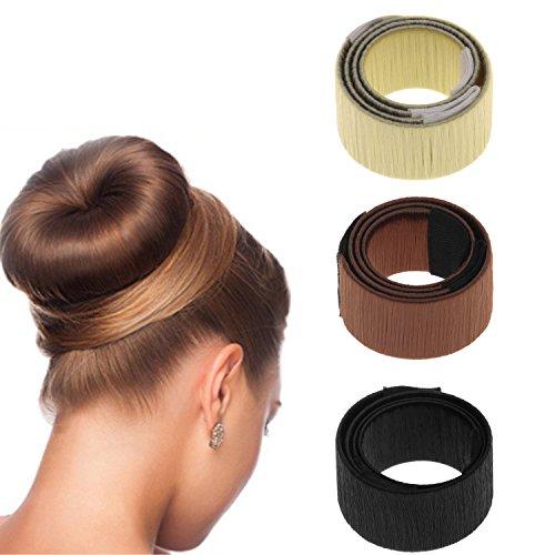 Haarstyling Tool Set Twist Haar Brötchen Magie DIY Dutt Frisuren Angeht Donut Hair Bun Maker 3 Stücke
