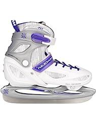 Nijdam 3080 Junior Femenino Figure skates - patines de hielo (Junior, Femenino, 38 - 41, Figure skates, Plata, Púrpura, Color blanco, De plástico)