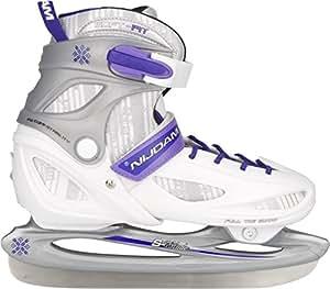 Nijdam Children's Ice Hockey Skates White Silber/Weiß/Purpur Size:30-33