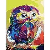 jasonding (Kein Rahmen) Bild Auf Wand Acrylfarbe Nach Zahlen DIY Malen Nach Zahlen Einzigartiges Geschenk Ölgemälde Abstrakt Tier Farbige Küken