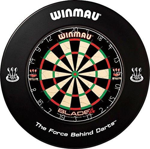 *WINMAU Dartboard Surround Dart-Auffangring Dart-Catchring schwarz PRINTED*