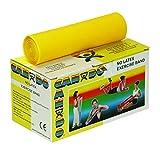 Trainingsband / Gymnastikband, Länge 5,5 m, Cando®, latexfrei - gelb (sehr leicht)