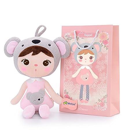 Metoo Plüschpuppe Puppe für Baby und Kleine Mädchen Geburtstagsgeschenk für Kinder (Koala Mädchen Puppe)