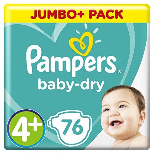 Pampers Baby Dry Gr.4+ Maxi Plus 10-15kg Jumbo Plus Pack