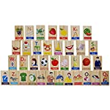 #8: Super Toys 100 Pcs 10 Alphabet Wooden Domino Run Board Toy Children Game