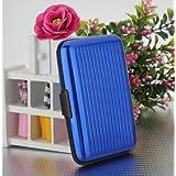 Alu wasserdichte Kreditkarten Visitenkarten Etui Case Tasche Box Hülle Kartenbox Aufbewahrungsbox Blau