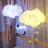 Yogogo Mini Cloudlight Diy Faite à La Main Enfants Nette Coton Nuage DéCorer PéPinièRe Lampe Forme Lampe Chambre LumièRe Veilleuse En Coton LumièRe MatéRiau Paquet Nuages LumièRes Chambre