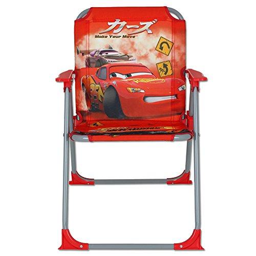 Klappstuhl Kinder mit Motivauswahl - Campingstuhl - Kinder Standstuhl - Kinderstuhl - Kinder Gartenstuhl (Cars)