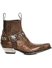 New Rock Boots M.7995PT-C10 Cowboy Western Rock Unisex Stiefelette Braun, EU 40