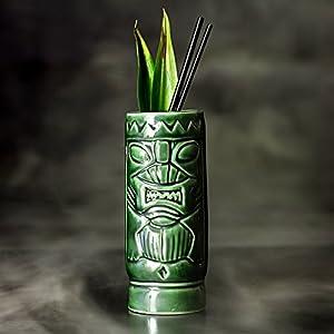 De-cermica-verde-Tiki-taza-ml300-ml-cermica-hawaiano-cctel-taza