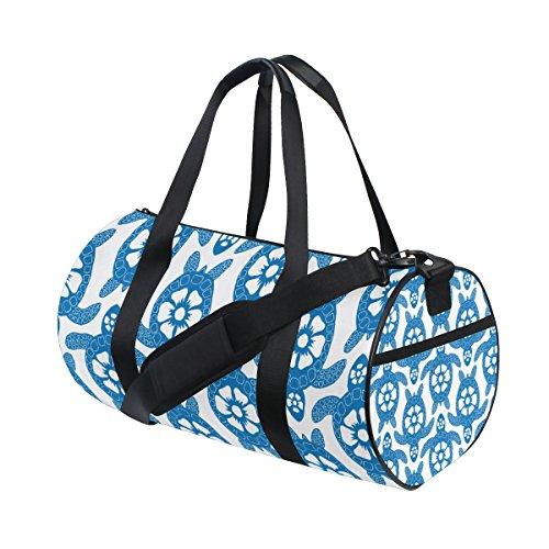 Schildkröte-haar-bürste (jstel eine Menge lila Schildkröte Sports Gym Tasche für Frauen und Herren Duffle Reisetasche)