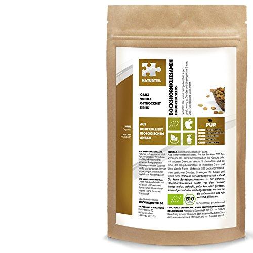 250 g Bockshornkleesamen Ganz Bio - im aromadichten & wiederverschließbaren Beutel - Naturteil