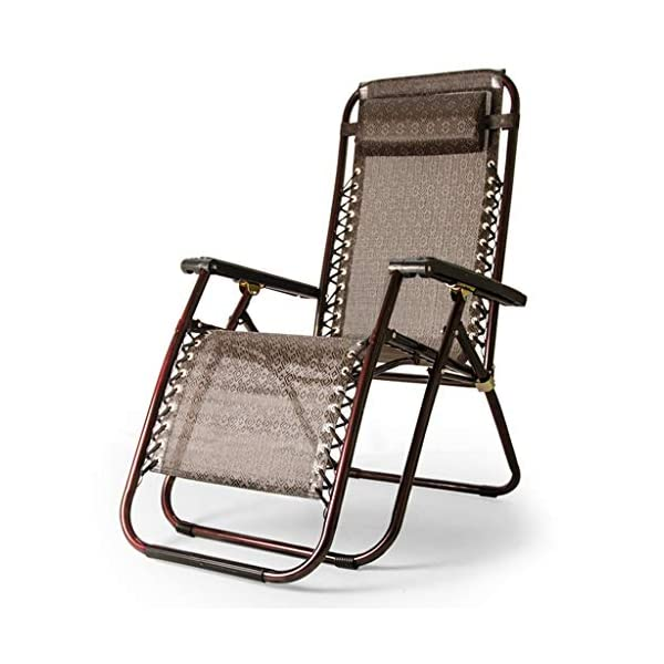 MRZZ Folding Chair,Office Lunch Nap Beach Chair Multi-function Recliner Escort Chair Reclining Garden Sun Lounger Chairs (Color : Brown)  It is incredibly comfortable, durable and folds down flat for easy storage Detachable and adjustable,Easy to install. Applicable Office lunch break, balcony small raft, outing camping, beach trip, hospital companionship or just relaxing in the garden. 1