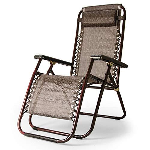 NRZZ Klappstuhl , Office Lunch Nap Strandkorb Multifunktionsliege Escort Chair Liegender Garten Sonnenliege Stühle. (Color : Brown) (Männer Escorts)