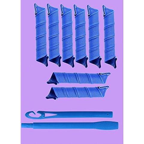DJ Cerchio di plastica dei capelli Rulli a spirale Boccoli cerchi bigodini Riccioli Strumenti Veloce fai da te diverse dimensioni , 3