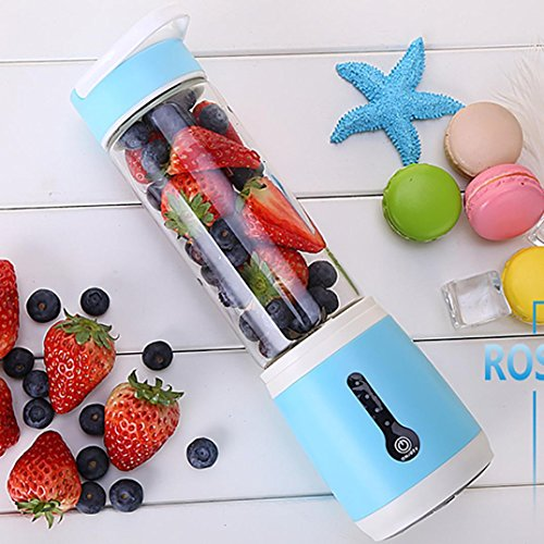 Hunpta@ Standmixer, Portable Blender USB wiederaufladbarer Personal Blender für Single Served Small Blender für Shakes Stronger (Blau)
